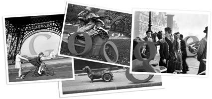 Google Logo: Robert Doisneau's 100th birthday - French photographer